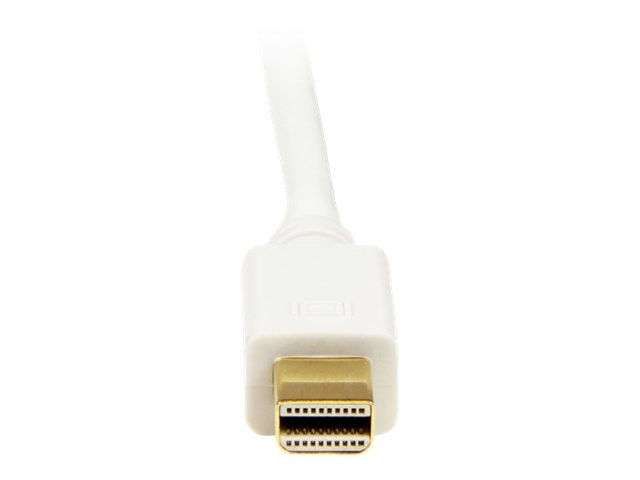 StarTech.com Mini DisplayPort to DVI Adapter Converter Cable, M-M, White, 3ft, MDP2DVIMM3W