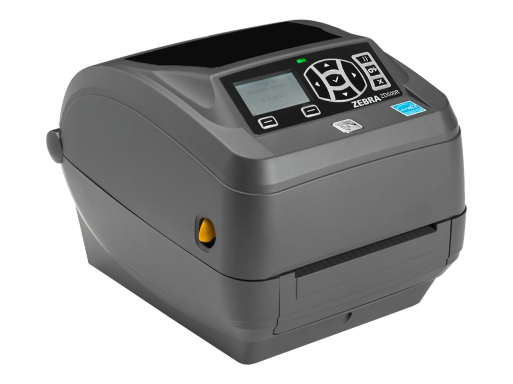 Zebra ZD500 DT TT 300dpi 4 ZPL Serial Parallel USB Ethernet Printer w  Tear Bar & North America Power, ZD50043-T01200FZ