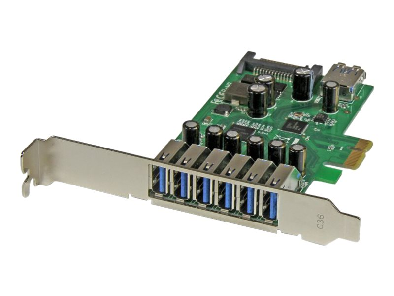 StarTech.com 7-port PCI Express USB 3.0 Card - Standard and Low-Profile Design, PEXUSB3S7, 18843591, Controller Cards & I/O Boards