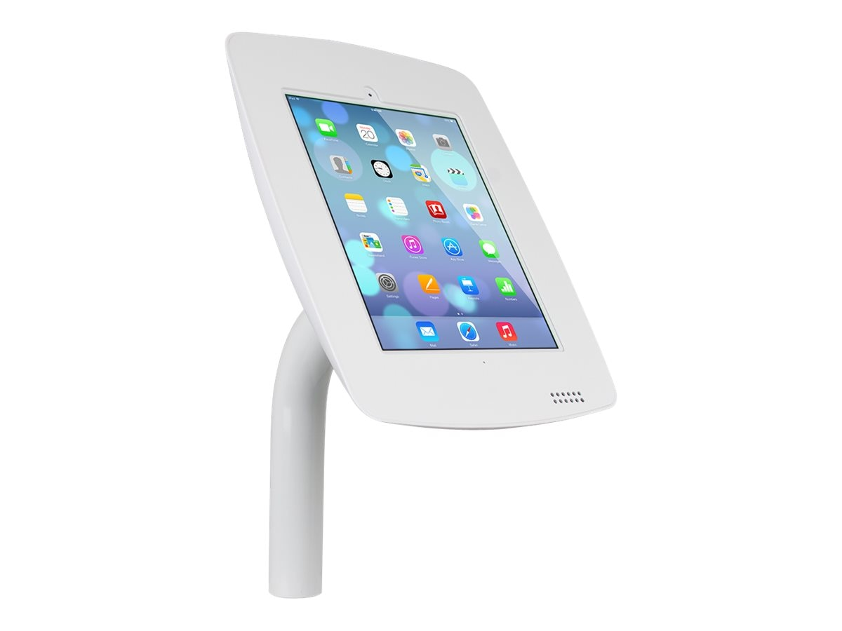 Joy Factory Elevate Aloft Mounted Countertop Kiosk for iPad Air 4 3 2, White