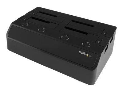 "StarTech.com 4-Bay Hard Drive Docking Station for 2.5"" 3.5"" SSDs & Hard Drives - eSATA USB 3.0 to SATA 6Gb s"