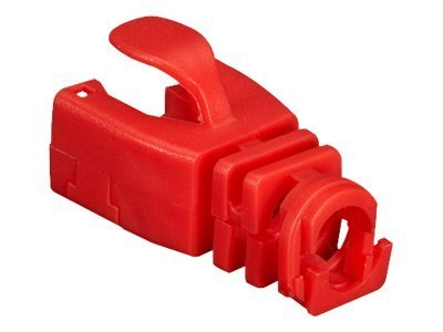 Black Box Snap-On Patch Cable Boot, Red, 50-Pack
