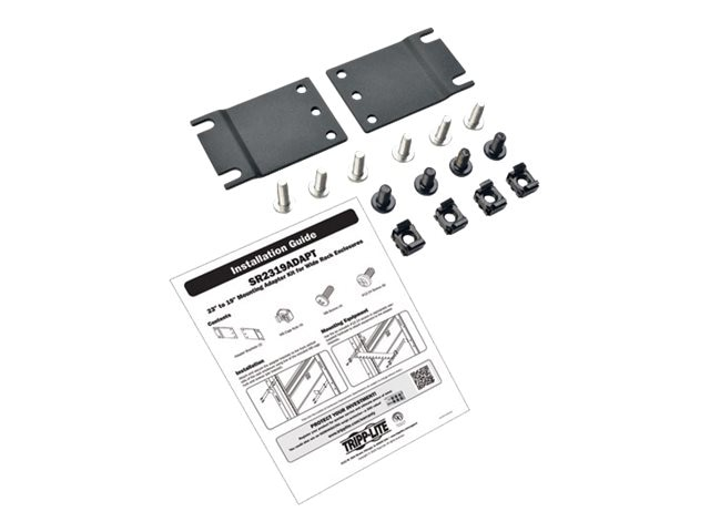 Tripp Lite Adapter Kit for Mounting 19 Equipment in 23 Racks, SR2319ADAPT, 30688601, Rack Mount Accessories