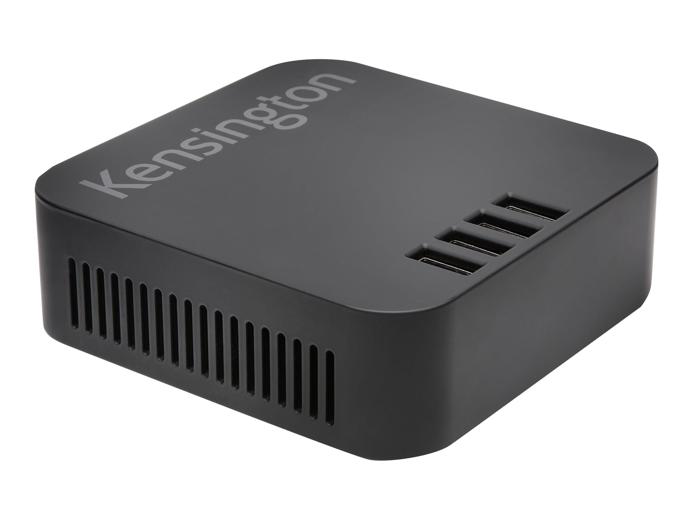 Kensington 48W 4-Port USB Charger, Black
