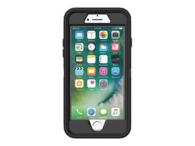 OtterBox Defender Case for iPhone 7, Black Pro Pack