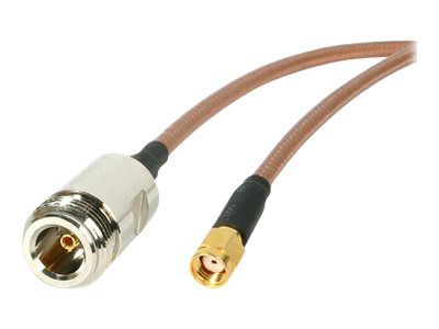 StarTech.com N Female to RP-SMA Wireless Antenna Adapter Cable - NRPSMA1FM, NRPSMA1FM, 5215924, Adapters & Port Converters