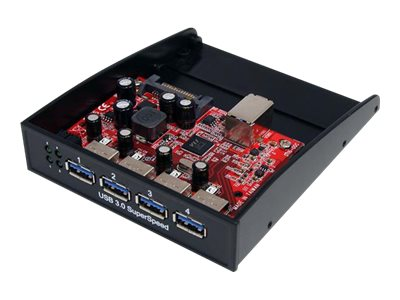 StarTech.com Front Panel 4-port USB 3.0 Hub for 3.5 5.25 Bay