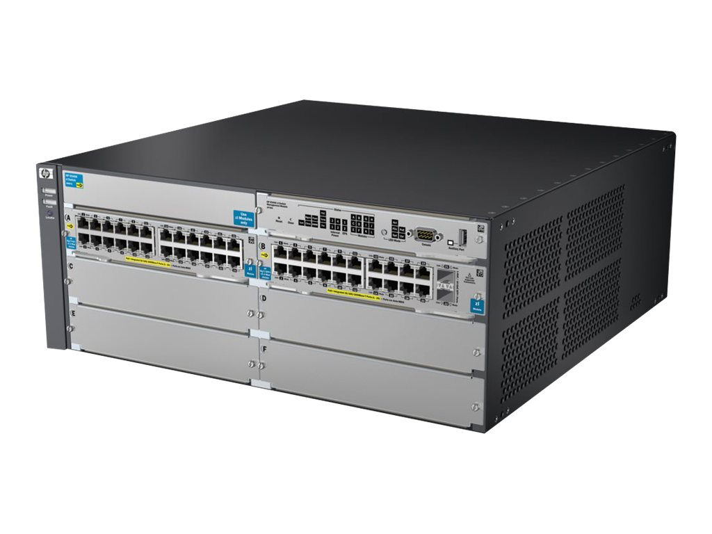 HPE E5406-44G-PoE+ 2XG V2-ZL Switch with Premium Software, J9533A#ABA, 12293533, Network Switches