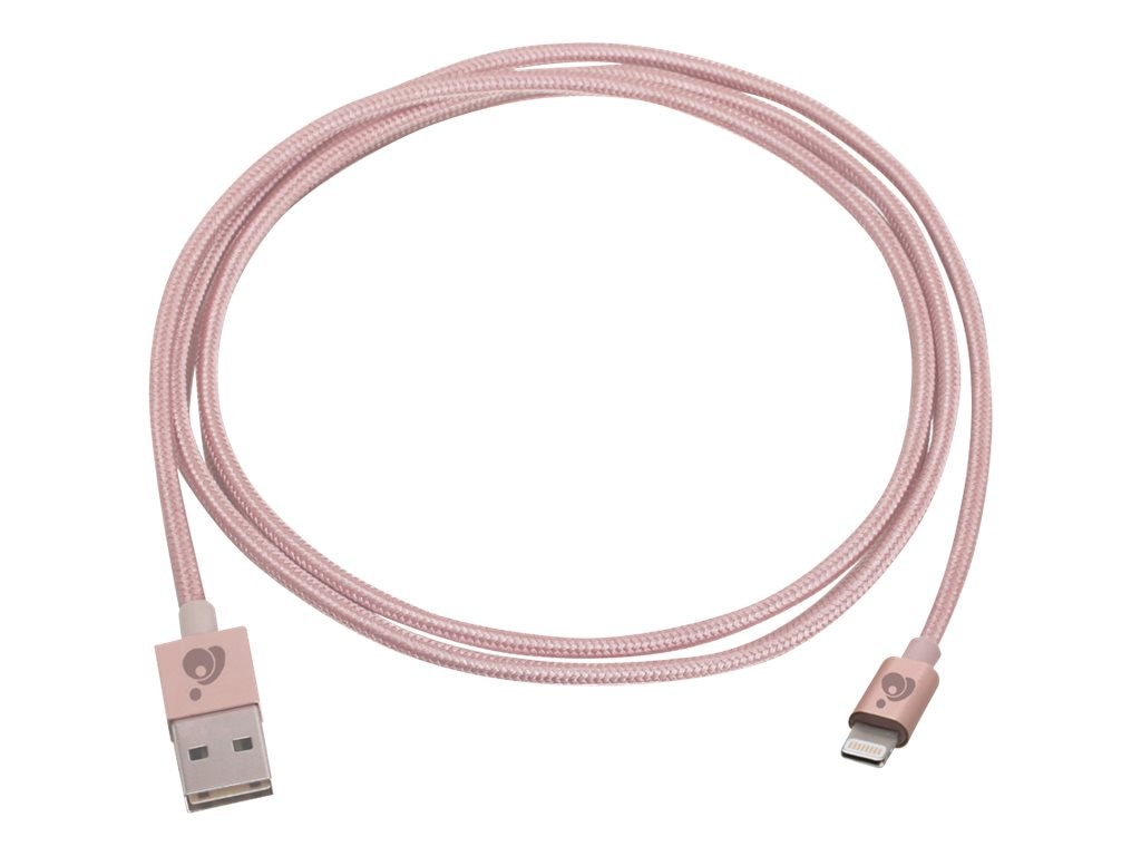 IOGEAR Charge and Sync Flip Pro USB to Lightning M M Cable, Rose Gold, 1m