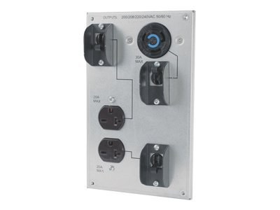 APC Smart-UPS RT 208V 8 10kVA Backplate Kit (2) 6-20R (2) L6-30R Outlets, SURT012, 9384080, Battery Backup Accessories