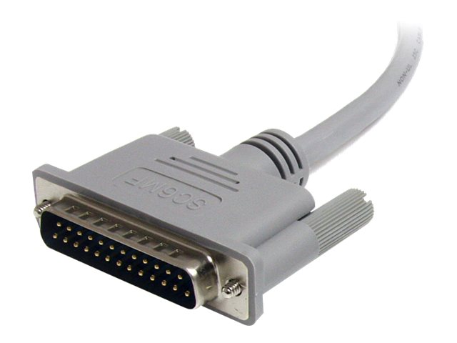 StarTech.com Straight Through Serial Parallel Cable DB25 M F, 6ft, SC6MF