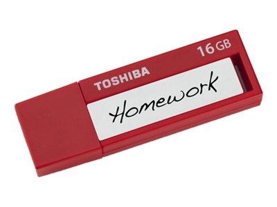 Toshiba 16GB TransMemory ID USB 3.0 Flash Drive, Red, PFU016U-1BLR, 19249455, Flash Drives