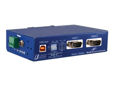 B&B Electronics 2-Port Isolated Converter USB to RS-232 422 425 (2-wire 4-wire), USR602, 16548450, Adapters & Port Converters