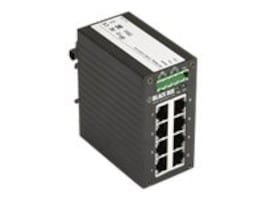 Black Box 8-Port Hardened Gigabit PoE+ Switch, LPH008A, 32890001, Network Switches
