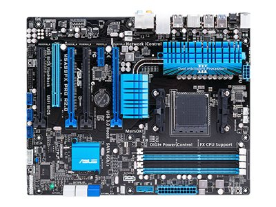 Asus Motherboard, AMD 990F, Socket AM3+, ATX, Max 32GB, 4PCIEX16, PCIEX, PCI, GBE, Audio, SATA3