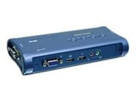 TRENDnet 4-Port USB KVM Switch Kit with Audio, (4) USB KVM Cables, (4) Audio Cables, TK-409K, 8537945, KVM Switches