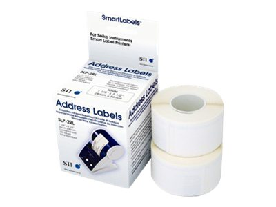 Seiko Standard Smart White Printer Labels (2 Rolls 130 Labels-Per-Roll)