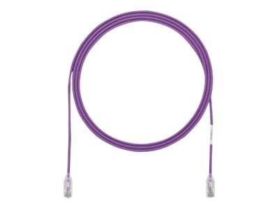 Panduit Cat6e 28AWG UTP CM LSZH Copper Patch Cable, Violet, 37ft