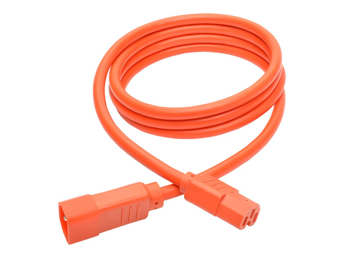 Tripp Lite Heavy Duty Computer Power Cord, 15A, 14AWG IEC-320-C14 to IEC-320-C15, Orange, 6ft, P018-006-AOR
