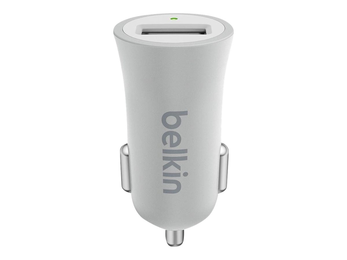 Belkin MIXIT Metallic Car Charger, Silver, F8M730BTSLV, 31851502, Automobile/Airline Power Adapters
