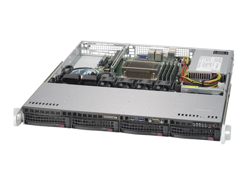 Supermicro SuperServer 5019S-MN4 1U RM Xeon E3-1200 v5 Family Max.64GB DDR4 4x3.5 HS Bays 4xGbE 350W