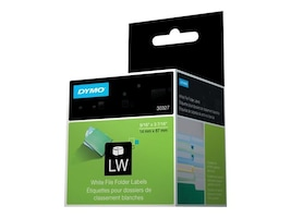 DYMO DYMO White 1-up File Folder Labels, 30327, 145603, Paper, Labels & Other Print Media