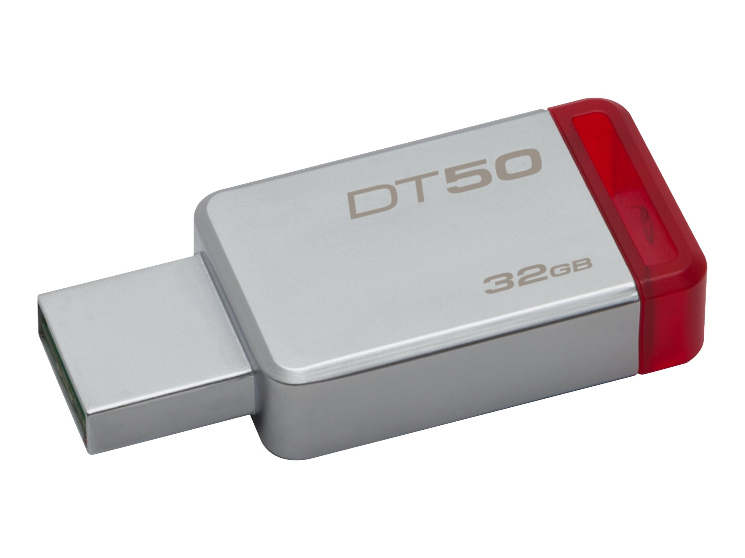 Kingston 32GB DataTraveler 50 USB 3.0 Flash Drive, Red