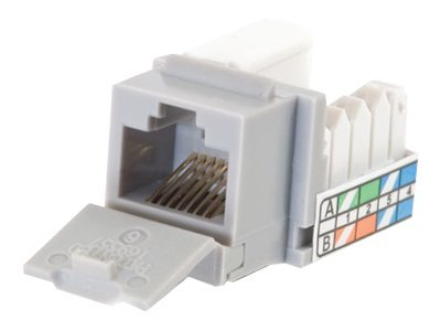 C2G Cat5e 90-Degree Keystone Jack, Grey, 35202, 9783902, Premise Wiring Equipment
