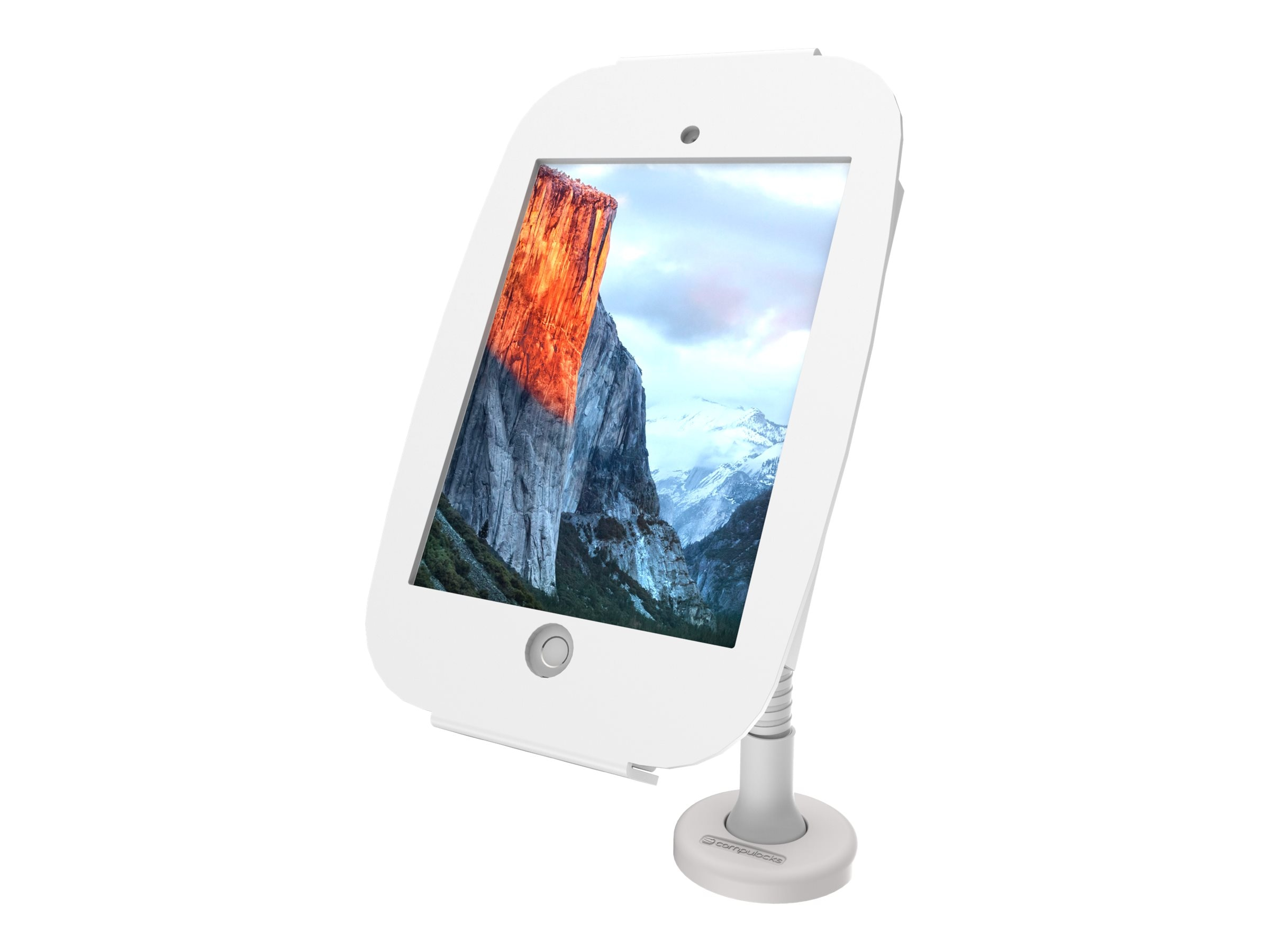 Compulocks iPad mini Enclosure Kiosk, Space , with Flex Arm, White