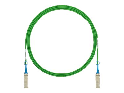 Panduit SFP+ Copper Patch Twinaxial Cable, Green, 3m