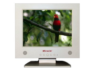 Miracle Business 10.4 LT10W Analog LCD Monitor, White, LT10W, 6588298, Monitors - LCD