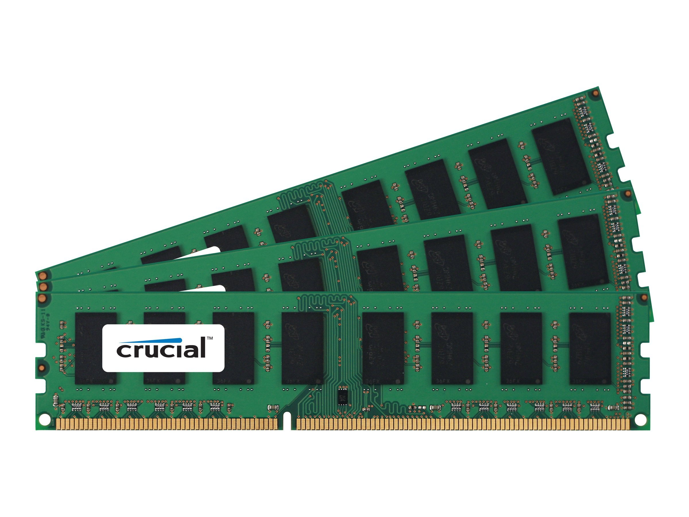 Crucial 12GB PC3-8500 240-pin DDR3 SDRAM DIMM Kit, CT3KIT51272BA1067, 11469234, Memory