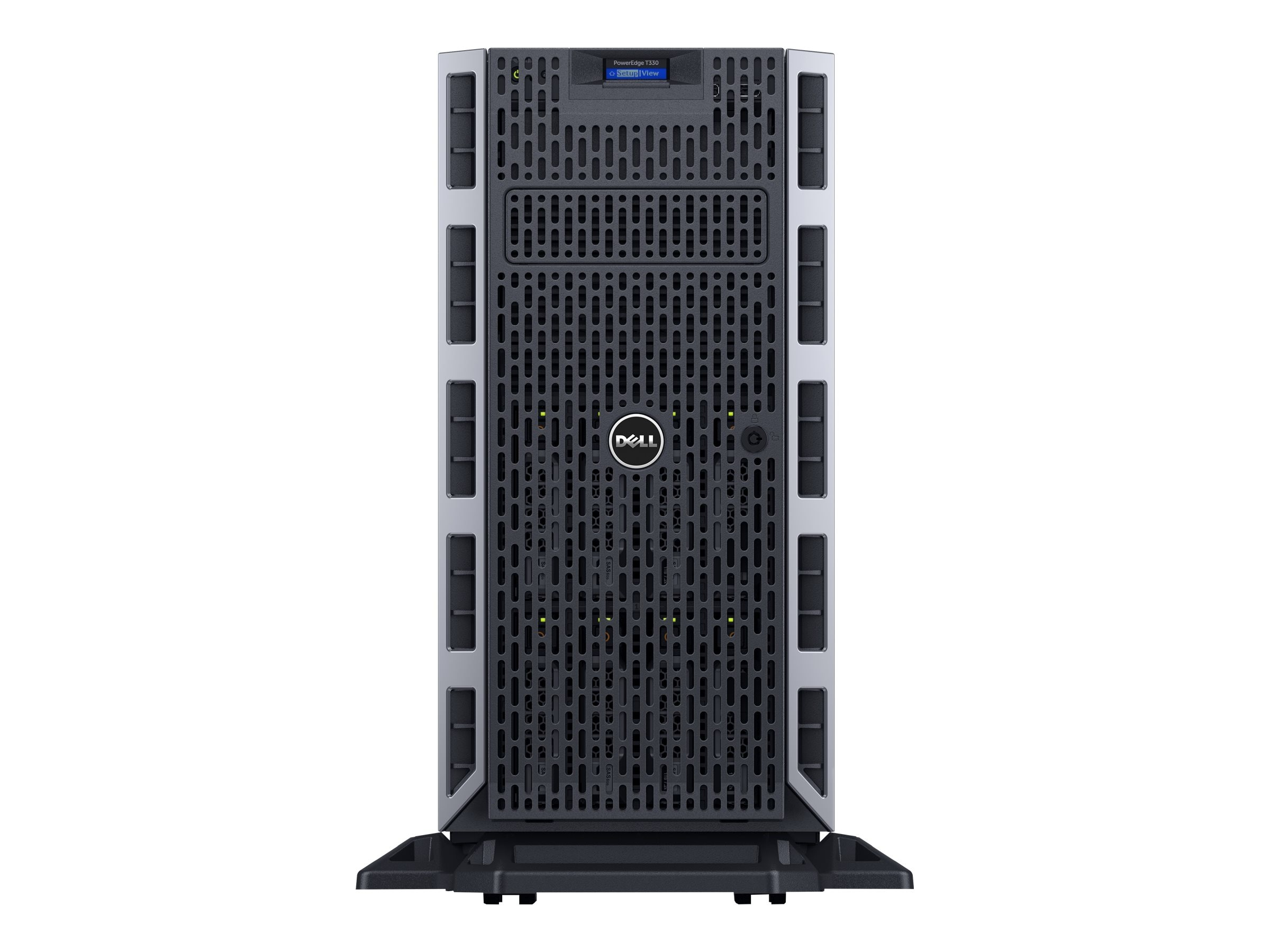 Dell PowerEdge T330 Tower Xeon QC E3-1240 v5 3.5GHz 8GB 1x300GB SAS 4x3.5 HP Bays H330 2xGbE 495W, 463-7654