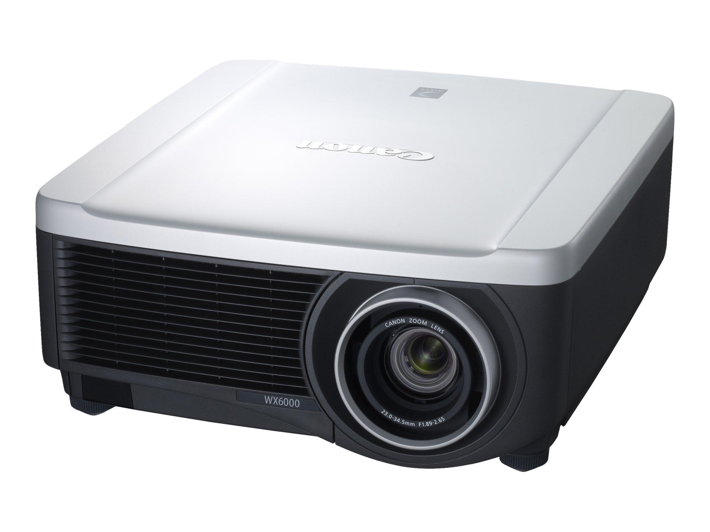 Canon REALIiS WX6000 D WXGA+ LCD Projector, 5700 Lumens, 5757B013, 14439575, Projectors