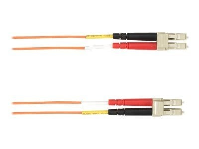 Black Box LC-LC 62.5 125 OM1 Multimode Plenum Fiber Cable, Orange, 15m
