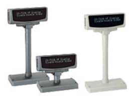 Partnertech VFD 2x20 9mm Character Display Std Base DB9 Serial, Dark Charcoal, RoHS, CD-7220GST12110-B, 8355682, POS Pole Displays