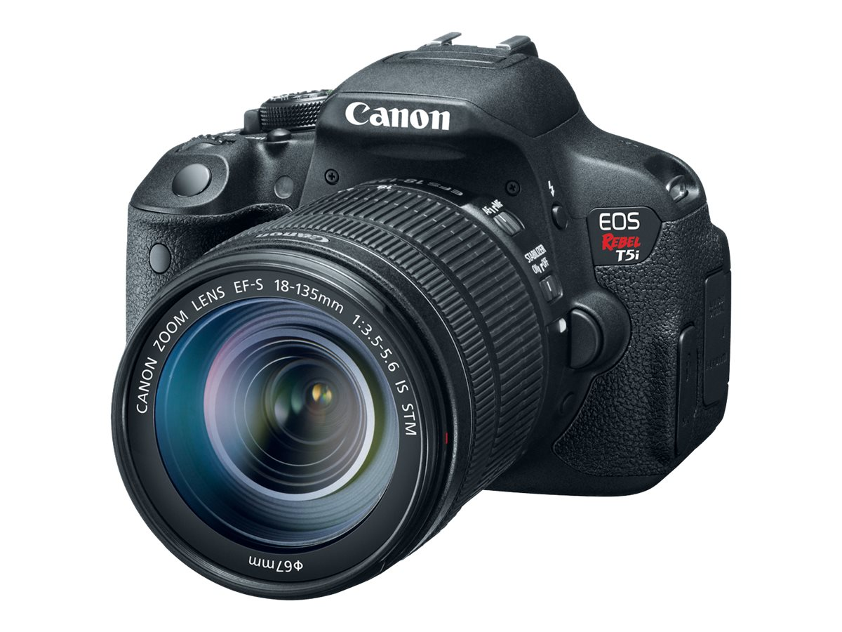 Canon EOS Rebel T5i EF-S Digital SLR with 8-135mm IS STM Kit, 8595B005, 15528414, Cameras - Digital - SLR