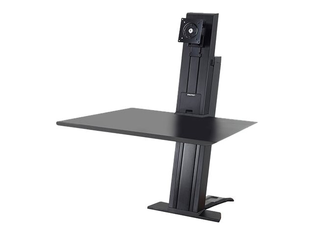 Ergotron WorkFit-SR, Heavy Monitor, Sit-Stand Desktop Workstation, Black, 33-416-085