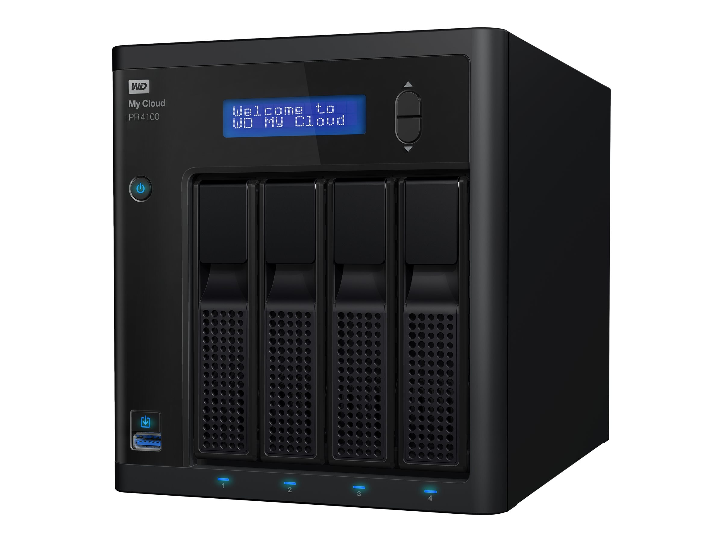WD My Cloud Pro Series PR4100 Storage - Diskless, WDBNFA0000NBK-NESN