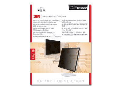 3M Privacy Filter for 20 16:9 Widescreen Display, PF200W9F