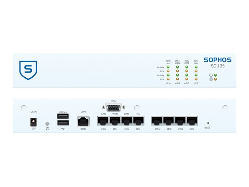 Sophos Corp. SG 135w TotalProtect 24x7, 1-Year (US Power  Cord), SA1D1CSUSK, 22707533, Network Security Appliances