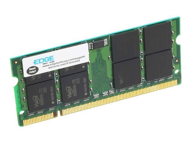 Edge 2GB PC2-5300 200-pin DDR2 SDRAM SODIMM, PE208233, 7147961, Memory