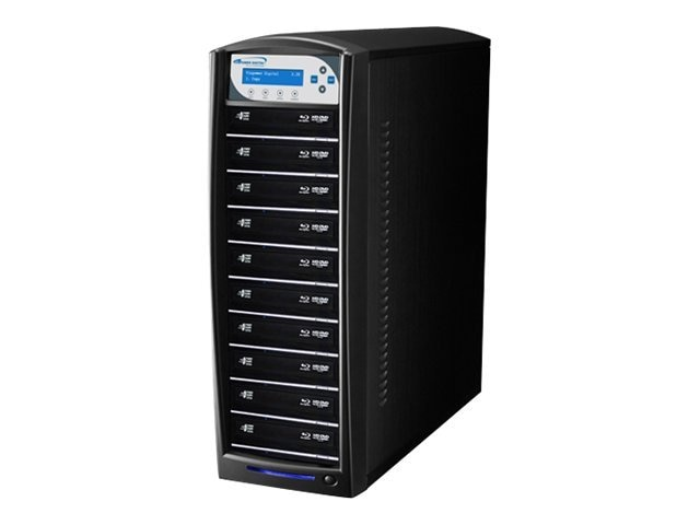 Vinpower SharkBlu Blu-ray XL DVD CD USB 1:10 Tower Duplicator w  Hard Drive, SHARKBLU-S10T-XL-BK, 15129536, Disc Duplicators