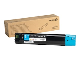 Xerox Cyan Standard Capacity Toner Cartridge for Phaser 6700 Series Printers, 106R01503, 13355353, Toner and Imaging Components