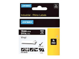DYMO 3 4 Rhino Black Vinyl Labels, 1805436, 13202429, Paper, Labels & Other Print Media