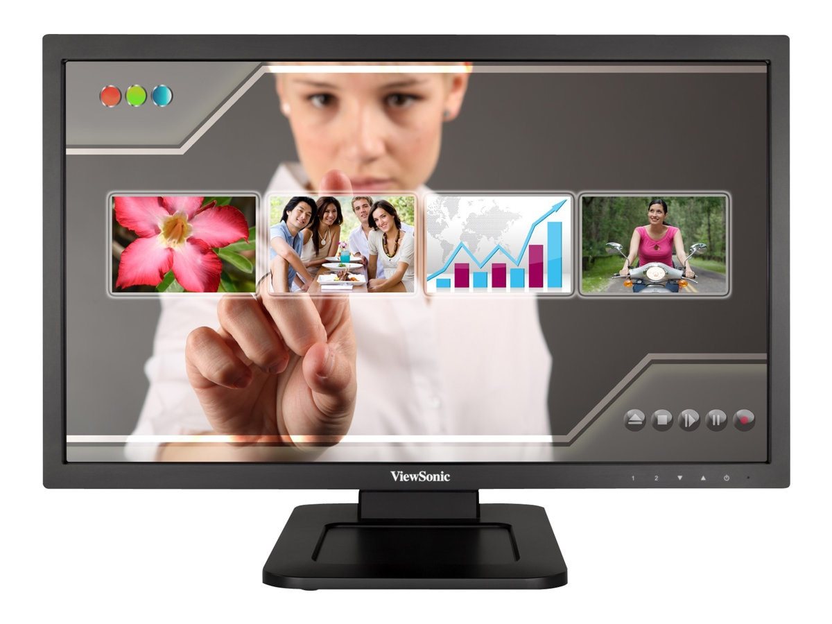 ViewSonic 22 TD2220 Full HD LED-LCD Multi-Touch Display, Black, TD2220, 14806849, Monitors - LED-LCD
