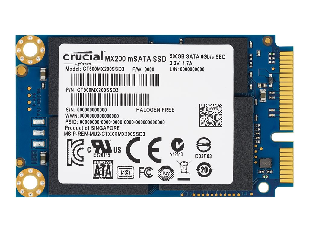 Crucial 250GB MX200 mSATA Internal Solid State Drive