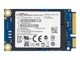 Crucial 250GB MX200 mSATA Internal Solid State Drive, CT250MX200SSD3, 18467733, Solid State Drives - Internal