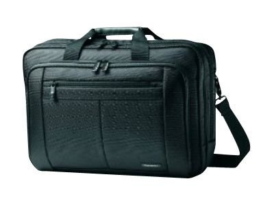 Stephen Gould Classic Three Gusset Briefcase, Fits Laptops Up to 15.6, SmartPocket, Easy Access, Black, 43270-1041, 12580031, Carrying Cases - Notebook