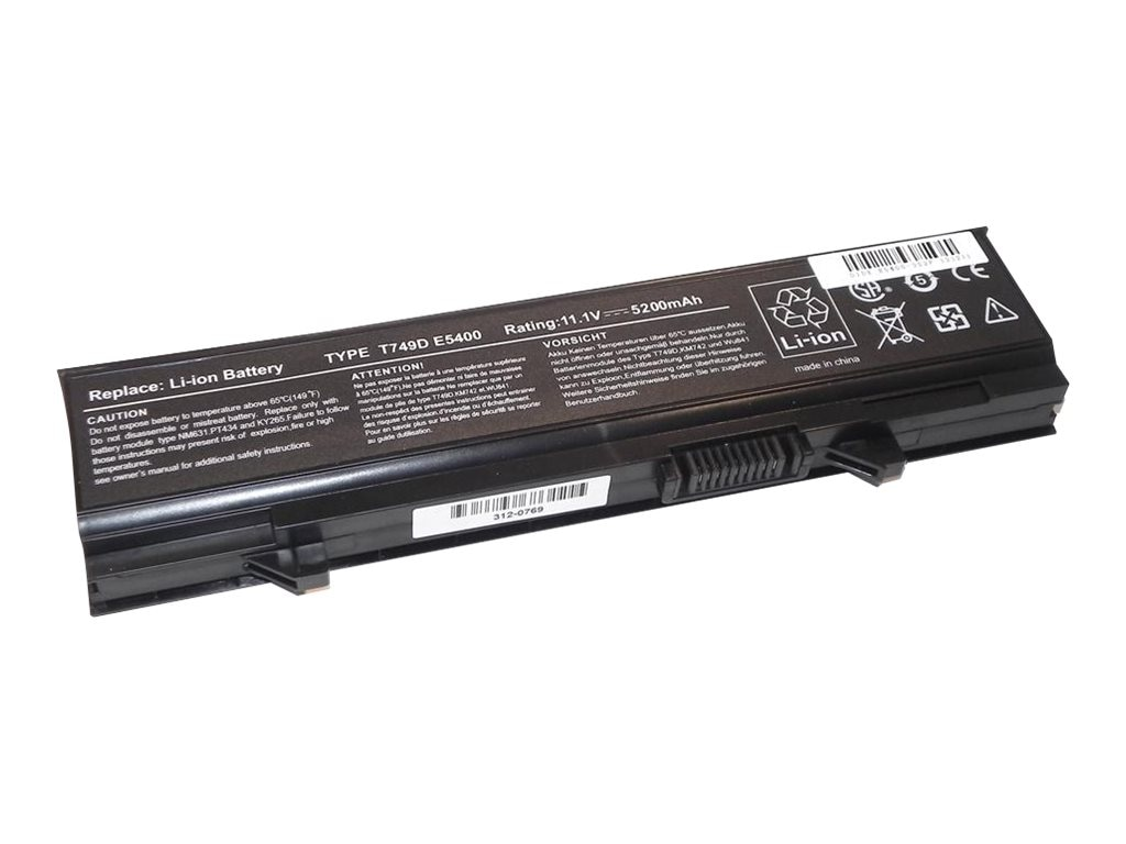 Ereplacements Laptop battery for Inspiron E5400, Inspiron E5500, Latitude E5400, Latitude E5500. KM769